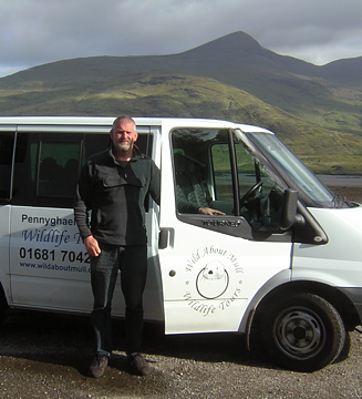 Bryan Rains and the 'Wild About Mull' minibus